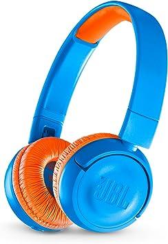 Amazon Com Jbl Jr 300bt Kids On Ear Wireless Headphones With Safe Sound Technology Blue Orange Electronics