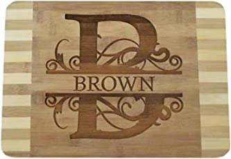 "Brew City Engraving Personalized/Custom Engraved Bamboo Wood Cutting Board - 13.5""x9.6""x0.68"""