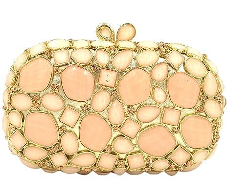 Cadena Bolso Mujer Noche Bolsas Fiesta Boda Carteras Brillo Mano Diamantes Embrague Rosa