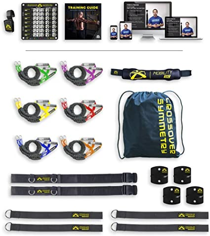 Amazon Com Deluxe Package With Door Belts Shoulder Resistance Bands Cords Perfect For Crossfit Warmups Arm Care Rotator Cuff Exercise Or Physical Rehab From Injury By Crossover Symmetry Sports Outdoors