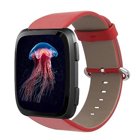 ReeYear Fitbit Versa - Correa de Repuesto para Reloj Inteligente Fitbit Versa, Correa de Piel