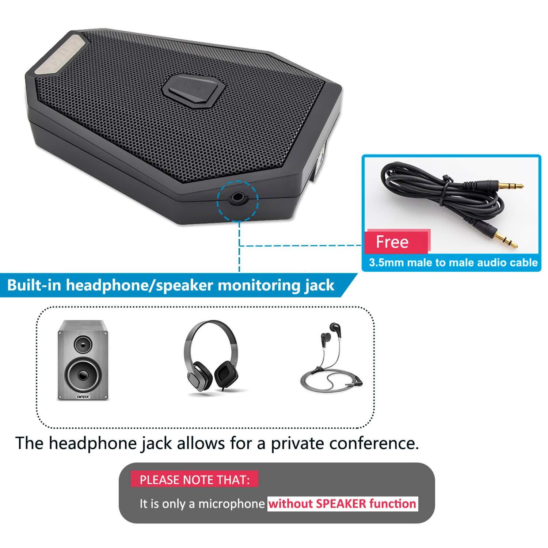CMTECK USB Desktop Microphone CM005R,Mute Function