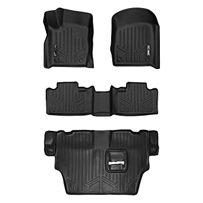 MAXLINER Floor Mats 3 Row Liner Set Black for 2016-2020 Dodge Durango with 2nd Row Bench Seat: Automotive