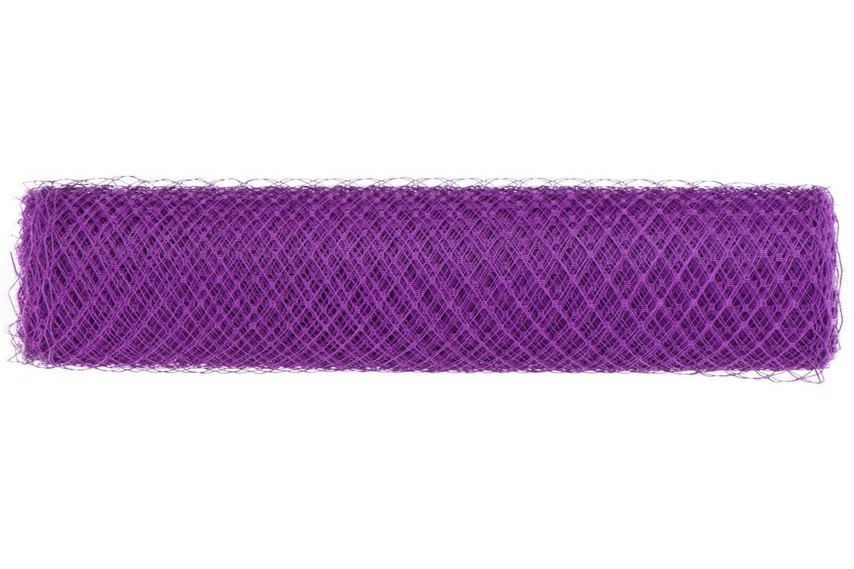 Birdcage Veil Netting Fabric Bridal Wedding Fascinator Millinery French B003 (#17 Medium Purple)