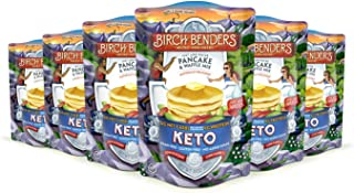 product image for Keto Pancake & Waffle Mix by Birch Benders, Low-Carb, High Protein, Grain-free, Gluten-free, Low Glycemic, Keto-Friendly, Made with Almond, Coconut & Cassava Flour, Just Add Water, 6 Pack (10oz each)