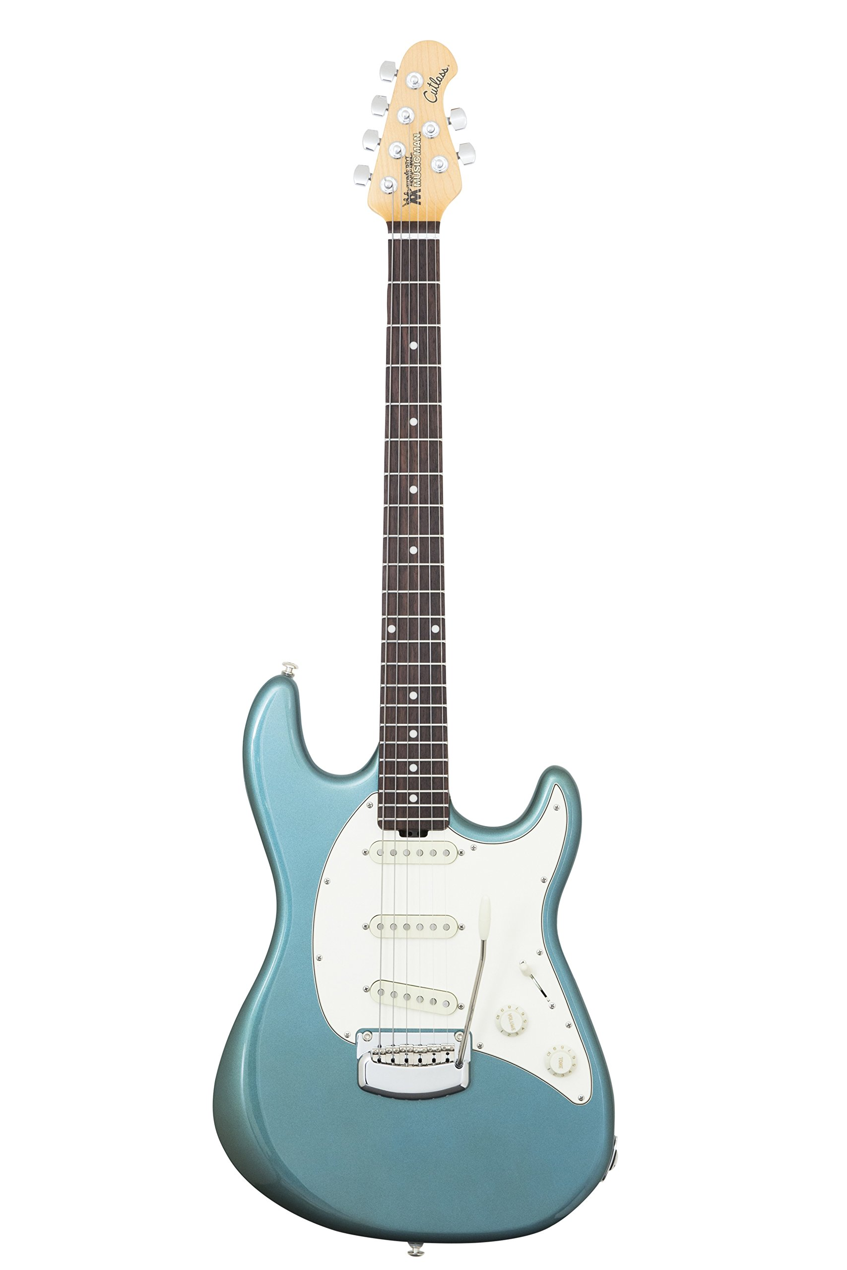 Ernie Ball Music Man 805-S1-20-08 Cutlass Vintage Guitar Turquoise Rosewood Fretboard