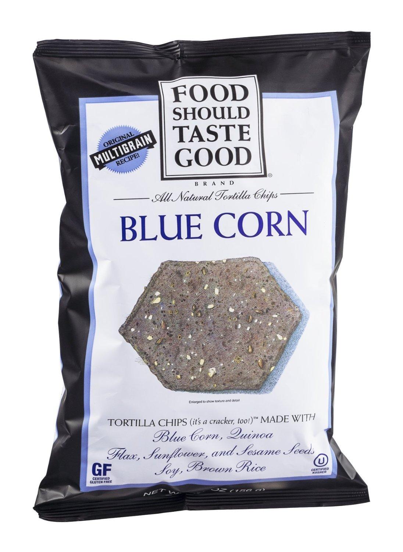 Food Should Taste Good Tortilla Chip - Blue Corn Gluten Free 5.5 Oz [4 Pack]