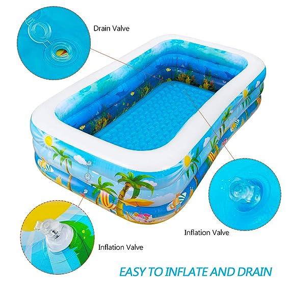 Amazon.com: Piscina hinchable iBaseToy, gran piscina ...