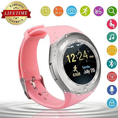 Smart Watch,Relojes Inteligentes Teléfonos Inteligentes Bluetooth Smart Watch Reloj Inteligente Hombre Mujer Niño Reloj Deportivo Reloj Camara Soporte ...