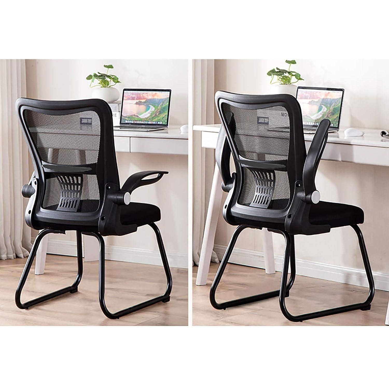 Lwjjby kontorsskrivbordsstol, inga hjul, tyg, för hemarbete, kontor, konferensrum, brädrum och mottagningsområden (färg: B) b