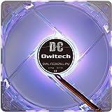 オウルテック PCケース用オリジナルLEDファン 9cm 25mm厚 1600rpm 静音 リブ無し 1年保証 パープル OWL-FE0925LL-PU