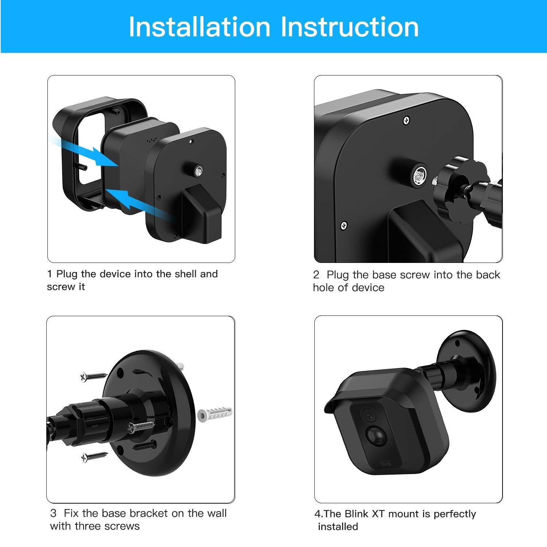 For Home Security Camera DG-Direct Blink Indoor Camera Wall Mount Bracket 1//3Pcs
