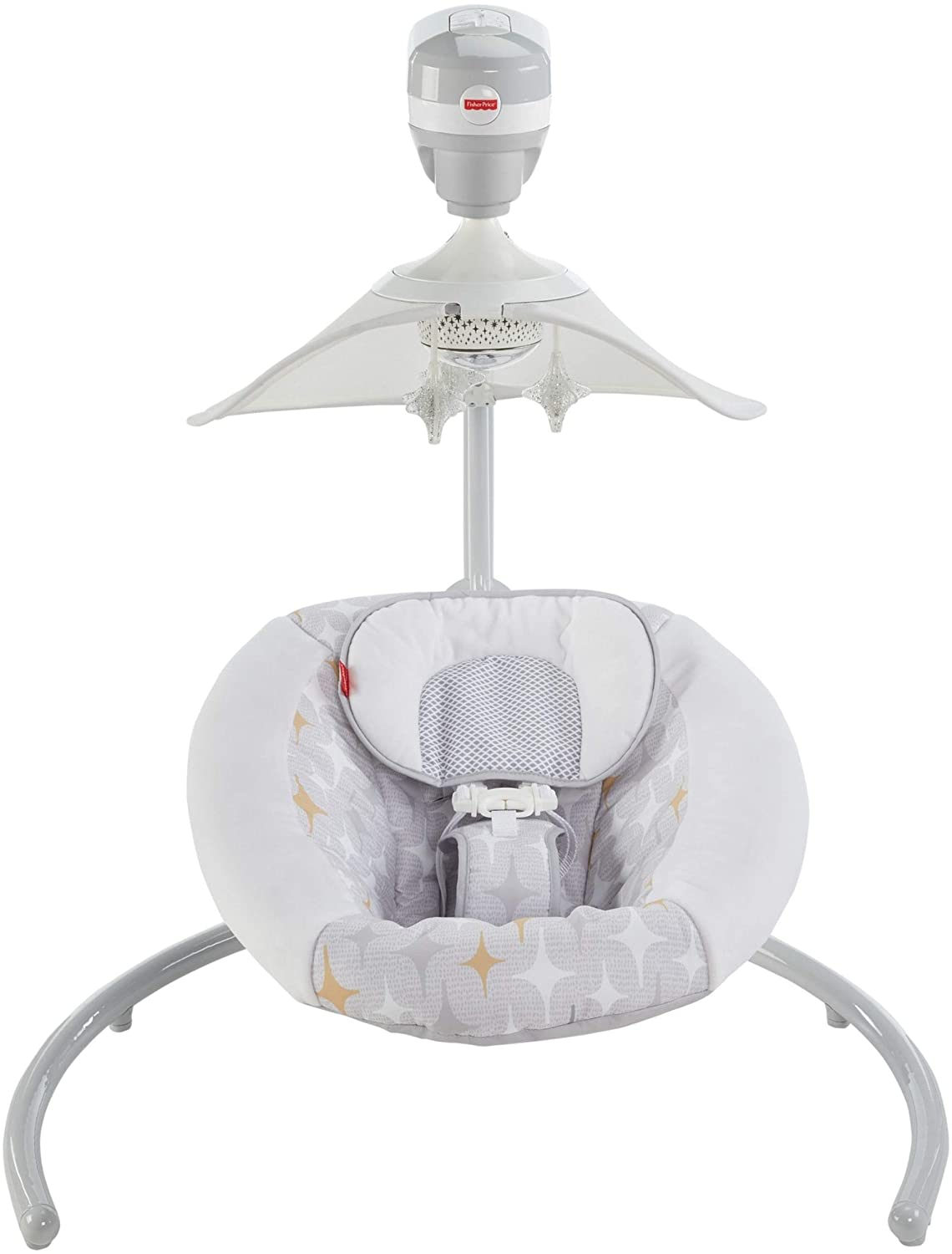 Fisher-Price Starlight Revolve Swing with SmartConnect, Silver/Gold FFH99