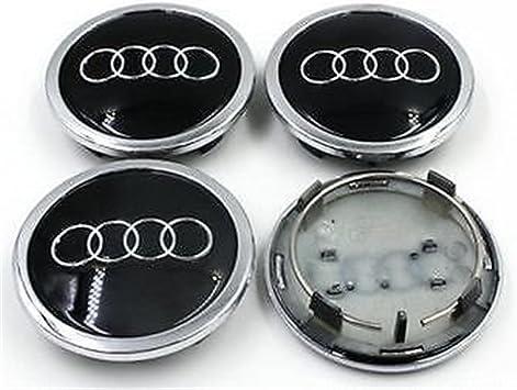 guoyuanzed 4B0601170A - Tapacubos para Audi A3 A4 A6 A8 S4 S6 RS4 RS6 (4 Unidades), Color Negro: Amazon.es: Coche y moto