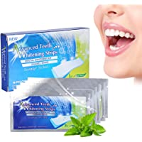 28 Stück Teeth Whitening Strips, Professional Zahnweiß Streifen, Dental Teeth Whitener Whitestrips Dental Teeth White…