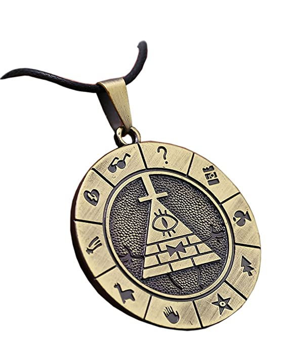 Bill Cipher Necklace Keychain Cosplay Costume Pyramid Pendant Accessories
