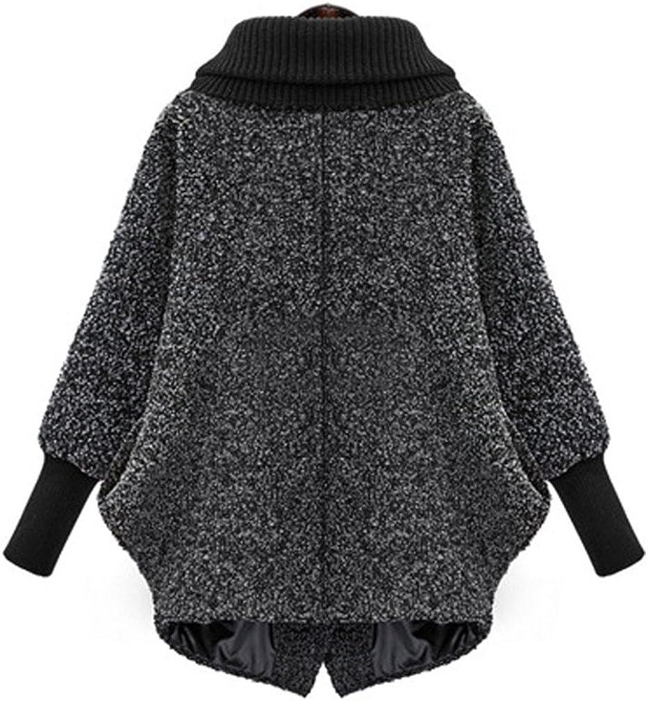BRDTYSR Women Winter Fashion Outerwear Thicker Loose Coat With Zipper Casual
