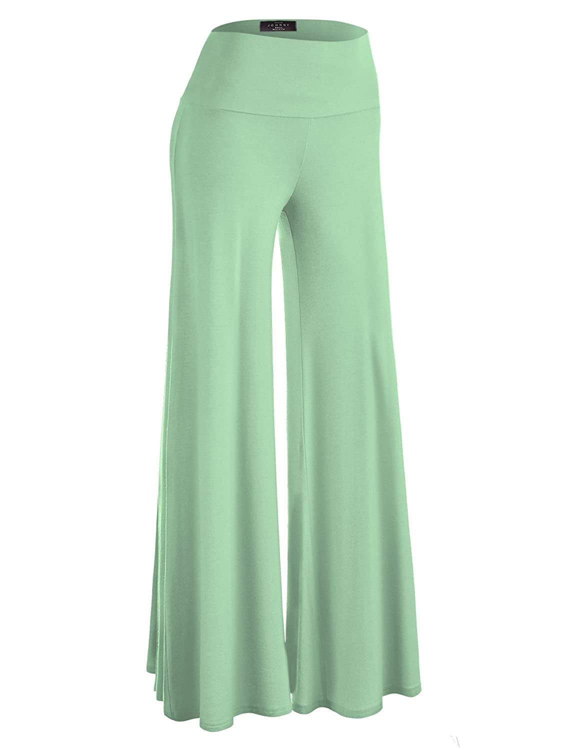 MBJ Womens Comfy Chic Palazzo Lounge Pant - Made in USA