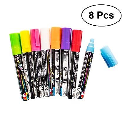 OUNONA 8 unids marcadores de tiza borrable marcador ...