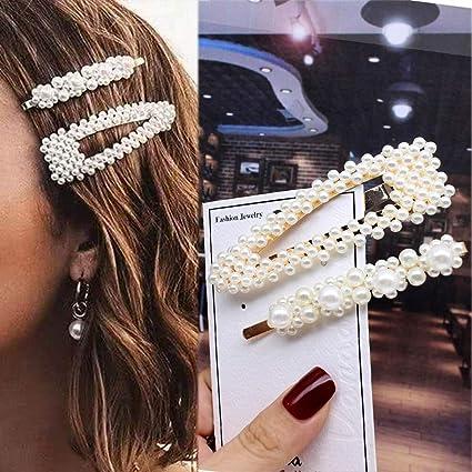 Girls Decoration Fashion Sweet Hairpins Pearl Hair Clips Headwear Barrettes