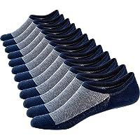 Ueither 12 Pares Calcetines Cortos Hombre Mujer Invisibles Respirable y Super Suaves Calcetines Tobilleros Algodón…