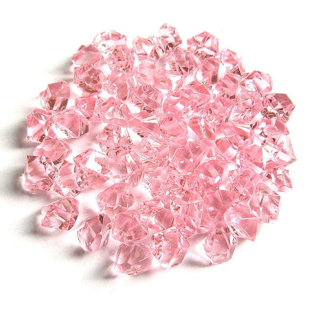Clear Fake Crushed Ice Rocks, 500 PCS Fake Diamonds Plastic