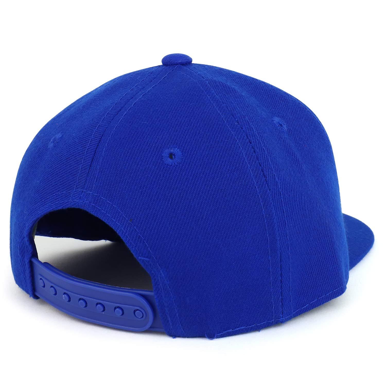 Trendy Apparel Shop Infant to Toddler Kids Plain Structured Flatbill Snapback Cap