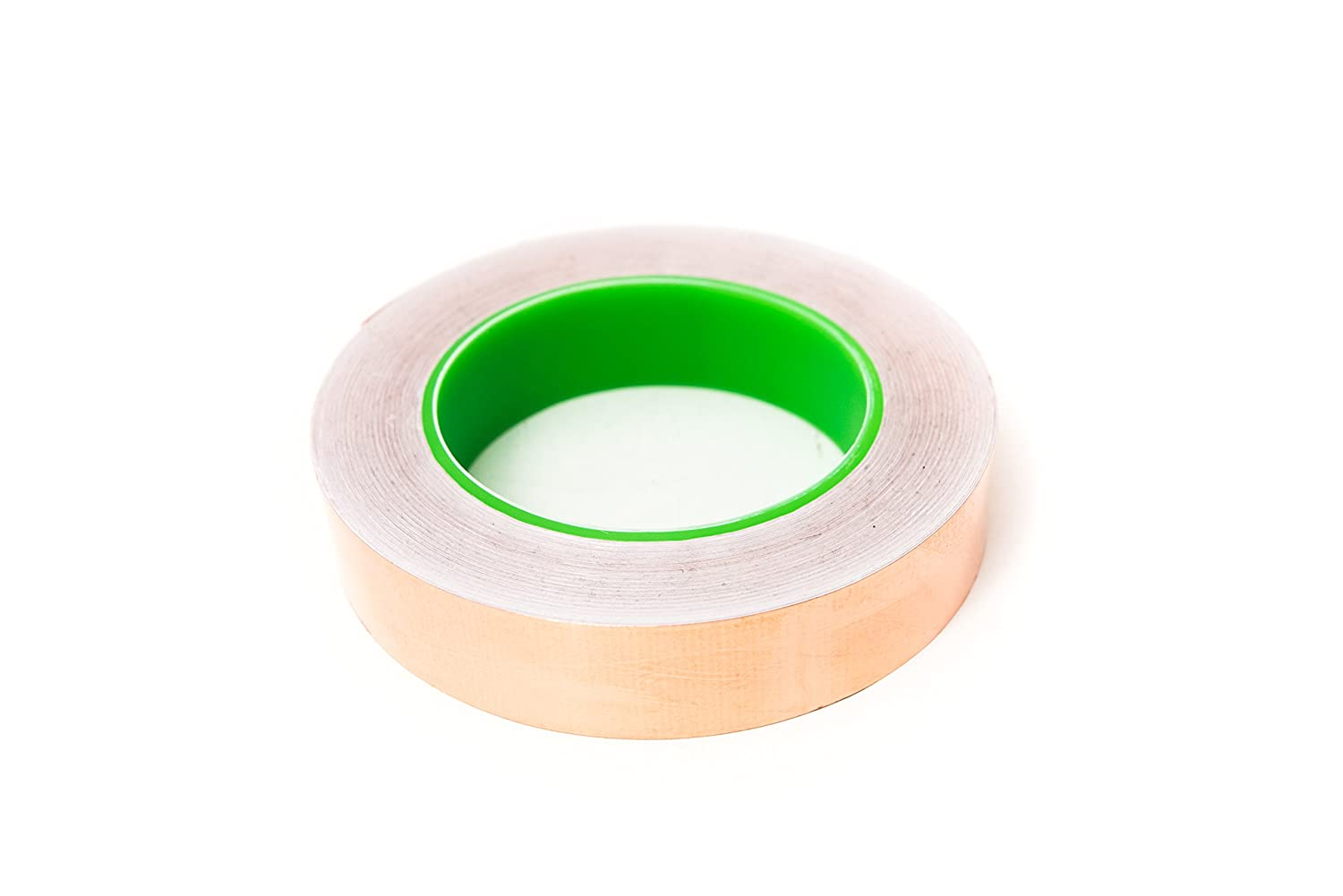 Bertech Copper Conductive Tape, 1/4 Wide x 36 Yards Long, 2.75 mil Thick on a 3 Core - For Slug Repellent, EMI Shielding, Electrical Repairs CFT-1/4
