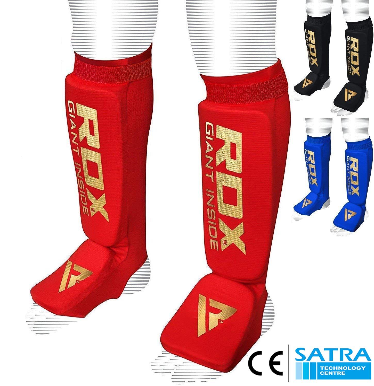 CE Bescheinigt Genehmigt Durch SATRA RDX Schienbeinschoner Boxen MMA Schienbeinschutz Kampfsport Kickboxen Schienbein Schienbeinsch/ützer Beinsch/ützer