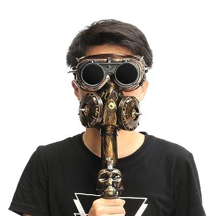 SAFETYON Hookah Mask - Juego de máscara de goma para fumar con tubo de plástico