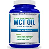 MCT Oil Capsules 100% from Coconuts - 1000 mg 180 Softgels - Keto Friendly - Great Pills for Energy and Weight Management (1