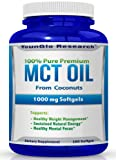 MCT Oil Capsules 100% from Coconuts - 1000 mg 180
