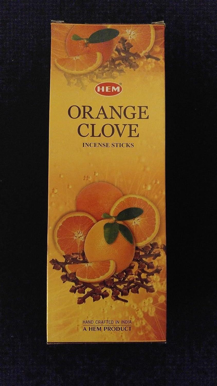 オレンジクローブ6ボックスの20 = 120裾Incense Sticksバルクケース小売表示ボックス B079Z6KVGP