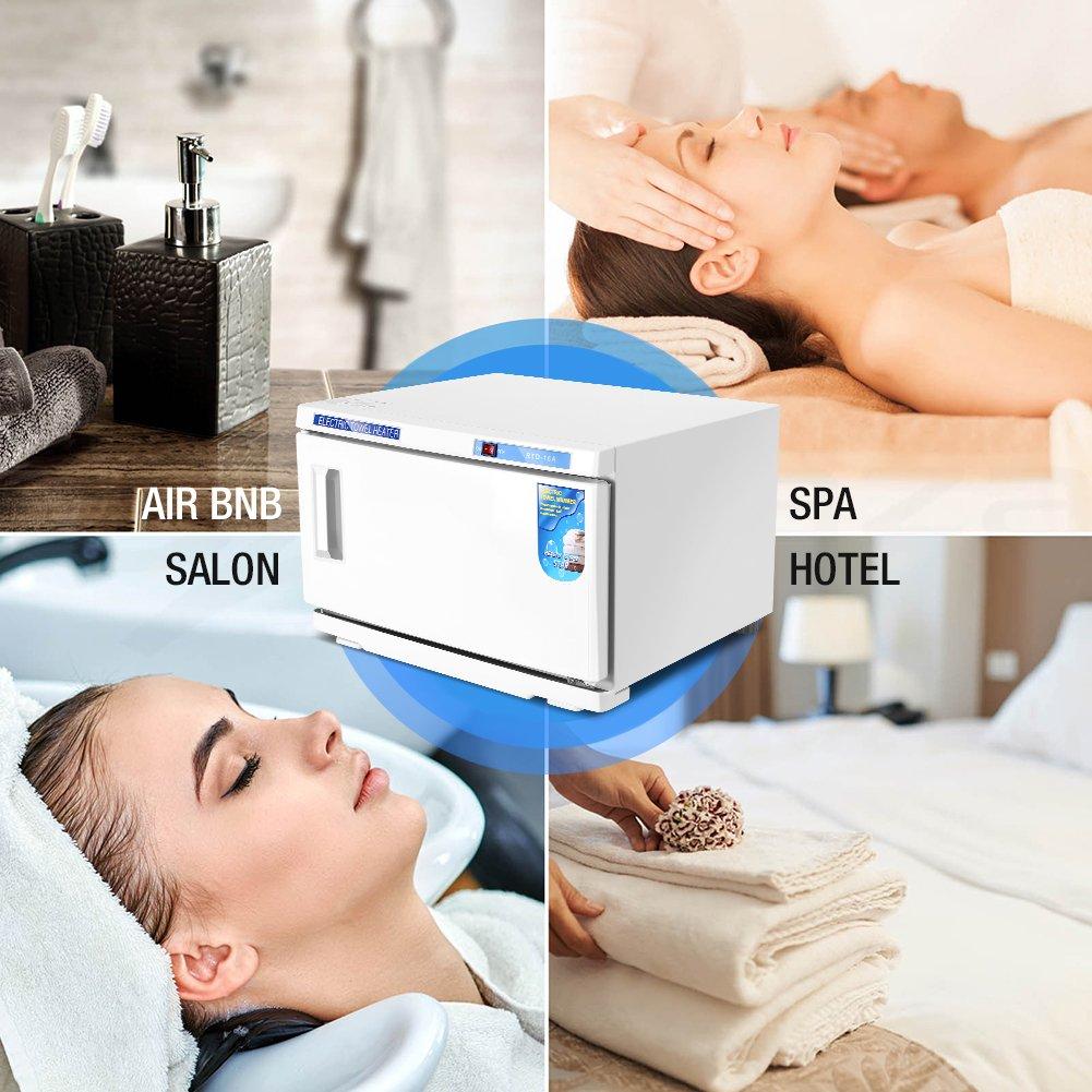 2 IN 1 Handtuch Sterilisator UV Sterilisation Schrank Schönheit Friseursalon Spa Desinfektion Geeignet für sowohl traditionelle als auch Einwegtücher 220V, 45 * 39 * 27cm GOTOTOP