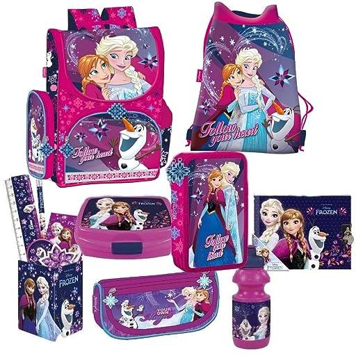 Frozen Die Eiskönigin 8 Teile Set Schulranzen Ranzen Federmappe Tasche Tornister Mit Sticker Von Kids4shop