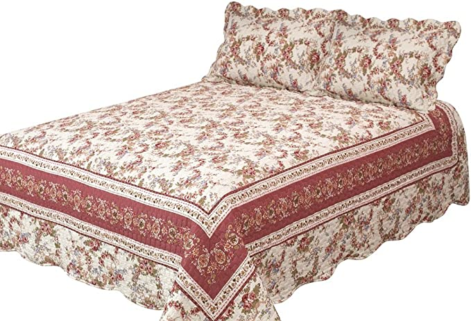 Ochre Patch Magic Finch Orchard 3-Piece Quilt Set King Floral