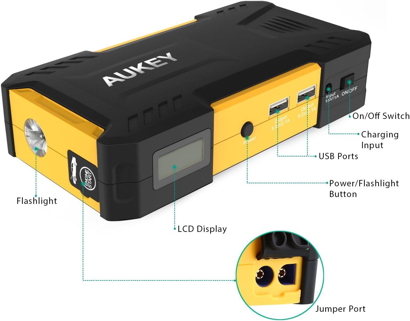 20000mAh Yimeezuyu Car Jump Starter Car Battery Booster 4USB LED Light Phone Charger Portable Power Car Emergency Power Supply
