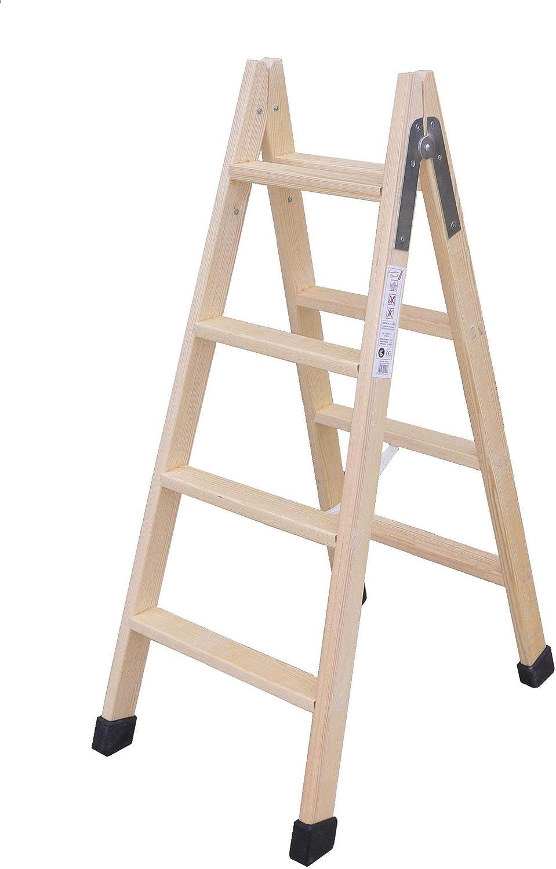 Escalera madera plegable tijera c/tacos 3 peldaños: Amazon.es: Bricolaje y herramientas