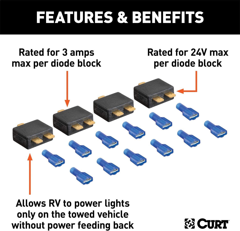 CURT 58999 RV Harness Diode Kit
