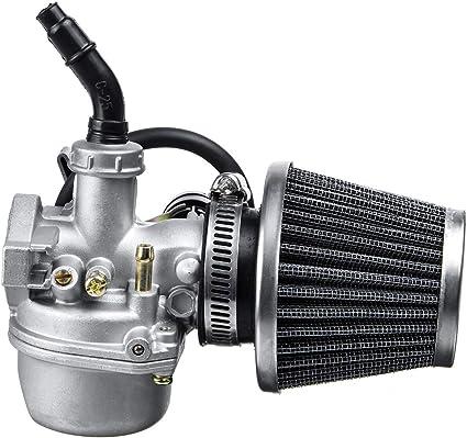 Viviance ZHVIVY Carburador de carburador de 19 mm + Filtro de Aire para Mini Motor ATV Quad 50/70/90/110/125 CC