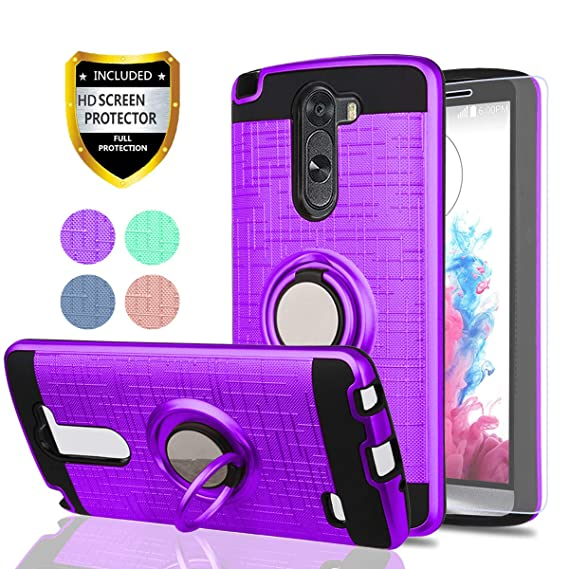 brand new 81e54 56c04 LG G3 Stylus Case,LG D690 Phone Cases (Not LG G3) with HD Phone Screen  Protector,YmhxcY 360 Degree Rotating Ring & Bracket Dual Layer Resistant  Back ...