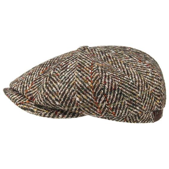 e52e77f0 Stetson Hatteras Herringbone Flat Cap Men | Made in The EU Newsboy Winter  with Peak, Lining Autumn-Winter: Amazon.co.uk: Clothing