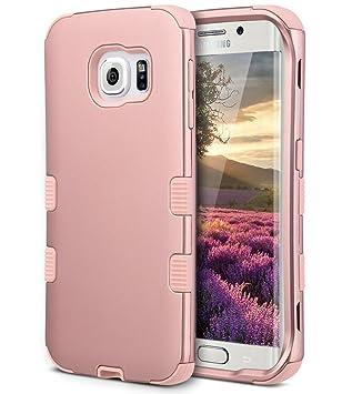 Carcasa S6 edge, ULAK Galaxy S6 Edge Case Carcasa Hybrid a ...