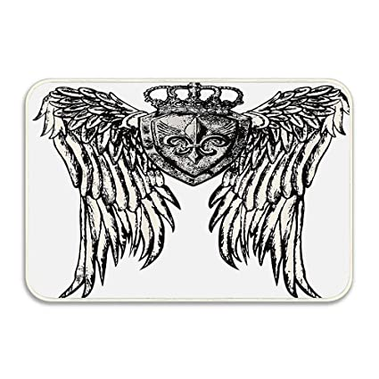 945fd9974 Amazon.com : Tribal Tattoo Design with Wings Aged Arms Badge Crest ...