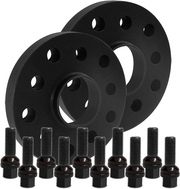 mit Schrauben schwarz 5x112 66,5mm 12436W/_12/_XV1415KU50X BlackLine Spurverbreiterung 40mm 20mm