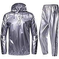 CAMEL CROWN Sweat Suit Lichtgewicht trainingspak voor heren, super sweat, met capuchon, saunapak, zweetpak voor sport en…