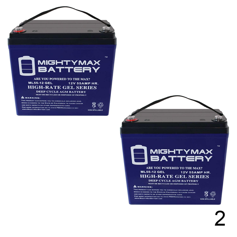 12 V 55 Ah Gel batería para Invacare Power Tiger silla de ruedas ...