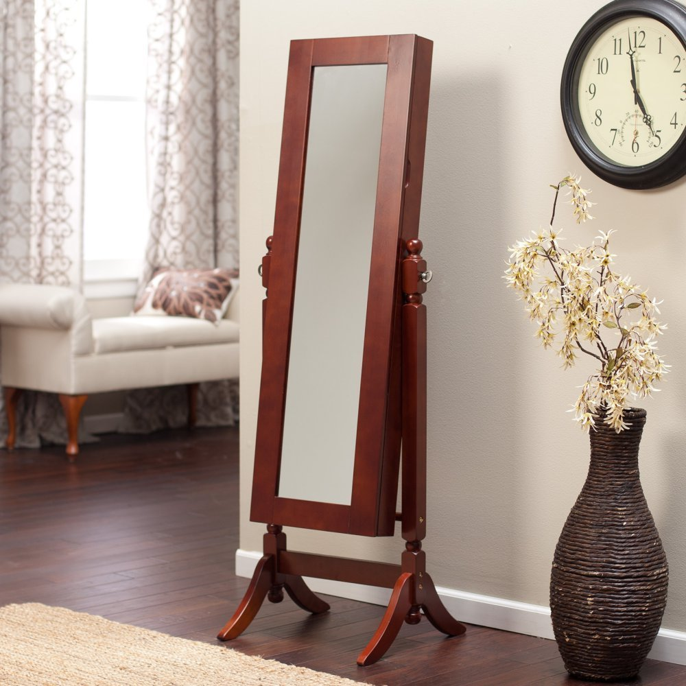Amazoncom Heritage Jewelry Armoire Cheval Mirror Home Kitchen