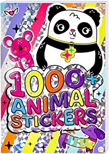 Fashion Angels Cute Animal Stickers for Kids - Animal Laptop Stickers for Scrapbooking, Planner Design, Gifts and Rewards, 40-Page Sticker Book for Kids Ages 6 and Up