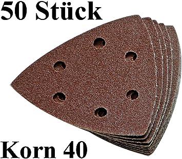 120 Klett-Schleifdreiecke 93x93x93 mm Korn 40-240 Mixpack Delta Schleifpapier